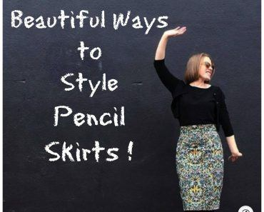 what to wear with pencil skirts