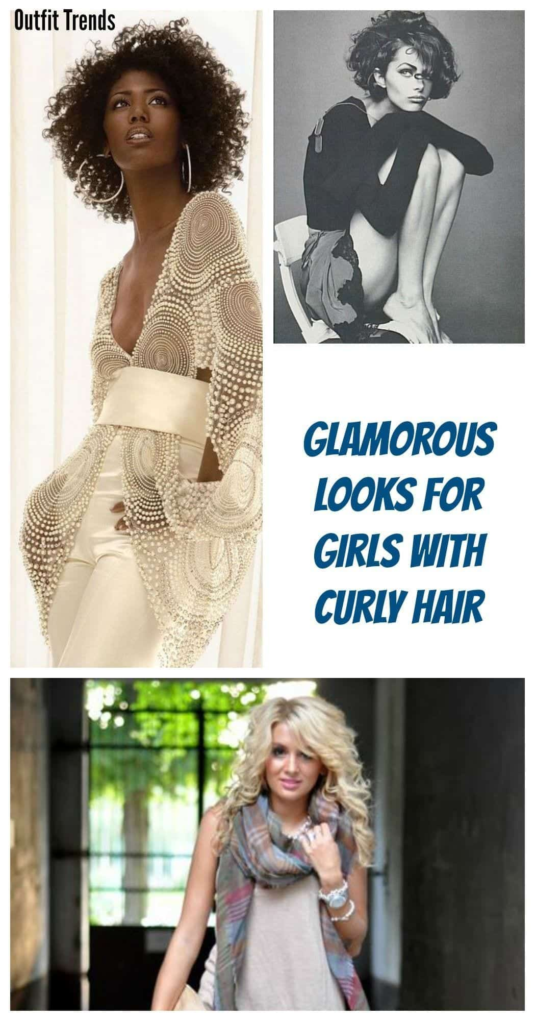 Glamorous Look For Girls With Curly Hair