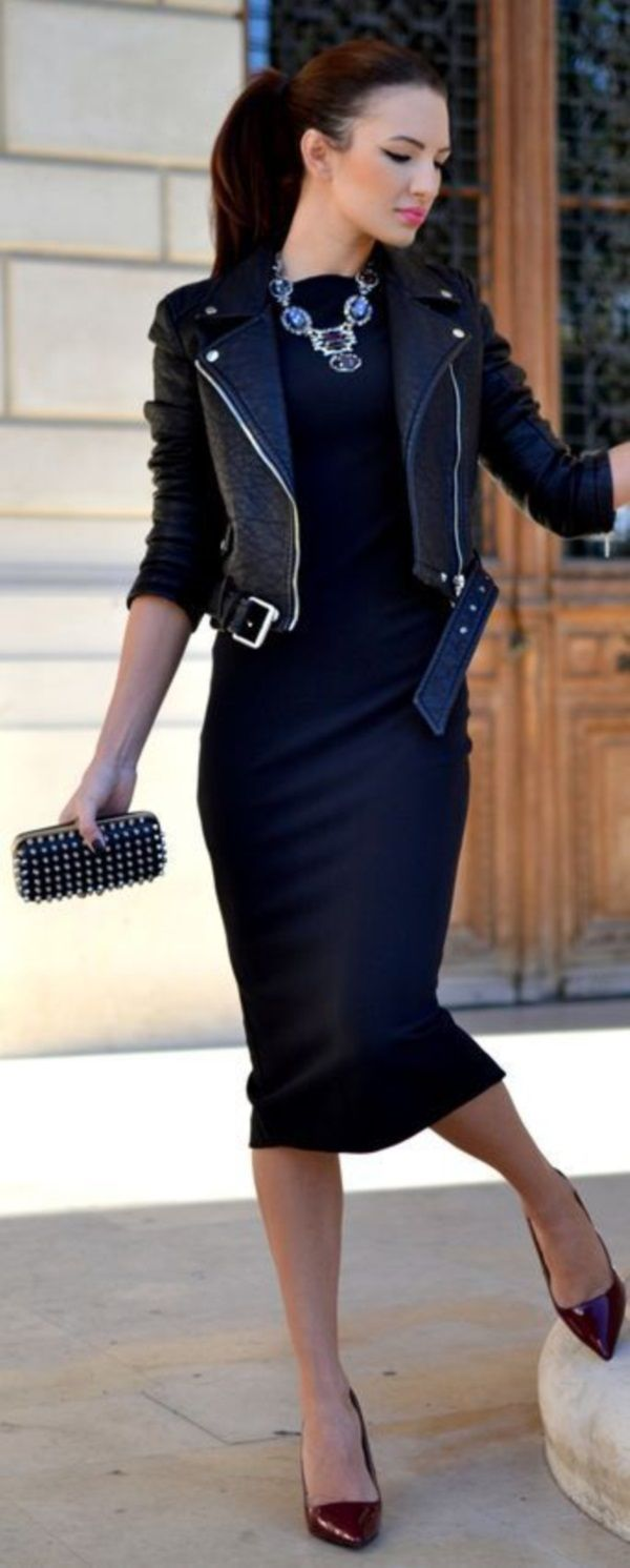 leather jacket outfits for girls (12)