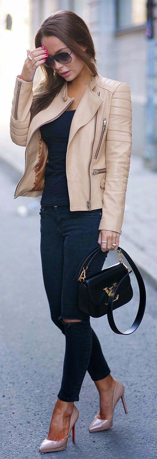 leather-jackets-11-1 Outfits with Leather Jacket-19 Ways to Style Leather Jacket