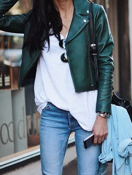 leather jacket outfits for girls (1)