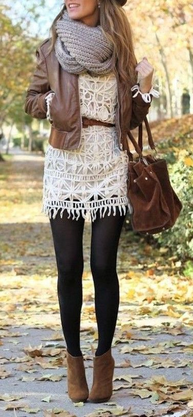 leather jacket outfits for girls (14)