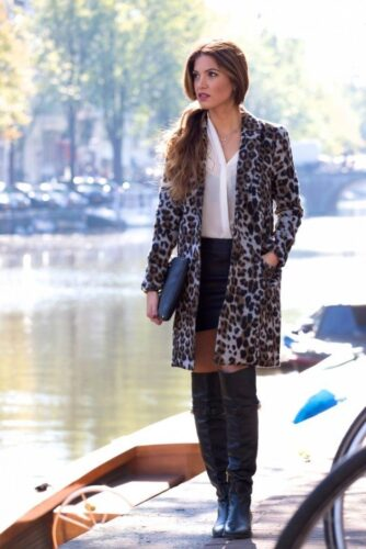 leopard-mood-630x944-334x500 Outfits with Leopard coats-20 Ideas to Style Leopard Print Coats