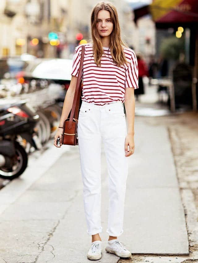 Fashionable ways to wear white jeans (9)