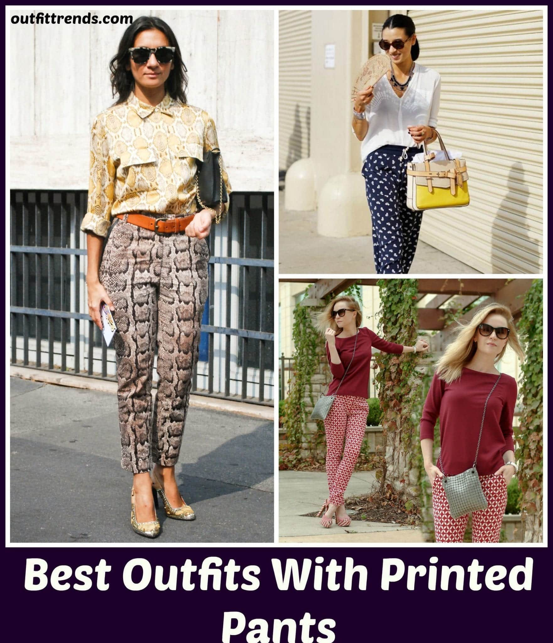 Ideas for Bottom Heavy Women to Wear Printed Pants (1)