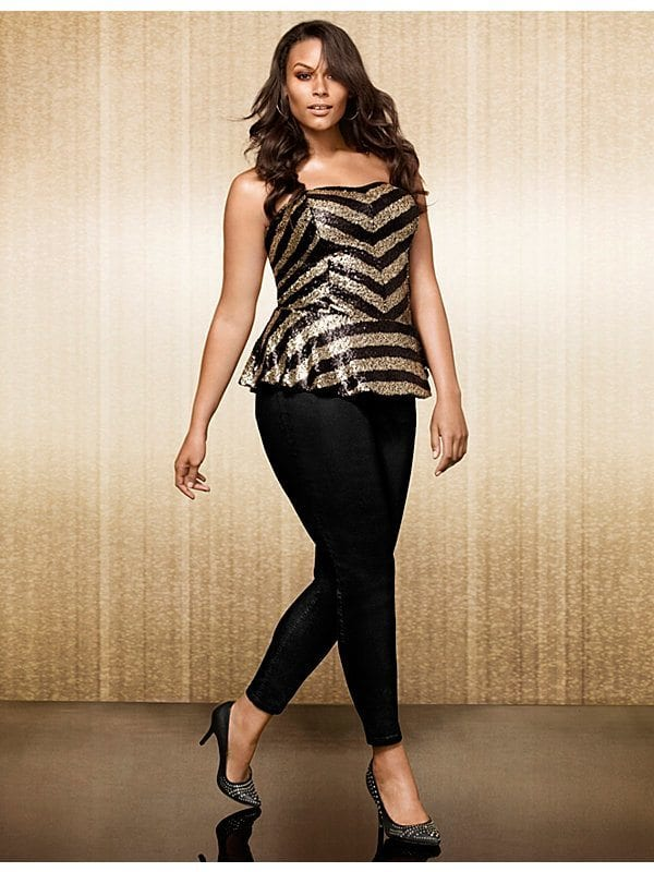 sequin-peplum-outfit-the-curvy-fashionista 18 Plus Size Sequin Outfits-How to Wear Sequin as Curvy Women