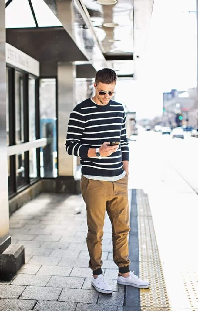 stripped-sweater-old-navy-653x1024 Fall Outfits for Men - 17 Casual Fashion Ideas This Fall