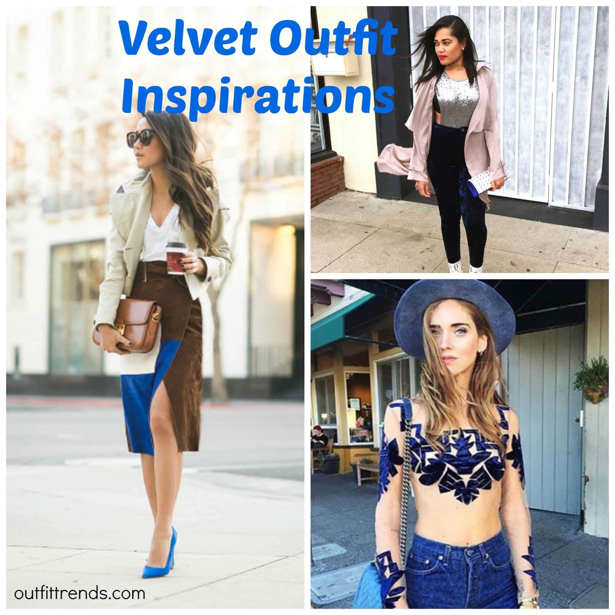 Ideas to wear Velvet Outfits