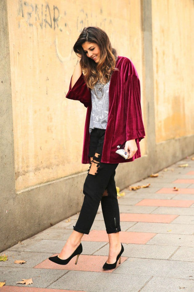 velvet7 Velvet Outfit ideas-20 Ways to Wear Velvet Dresses Stylishly