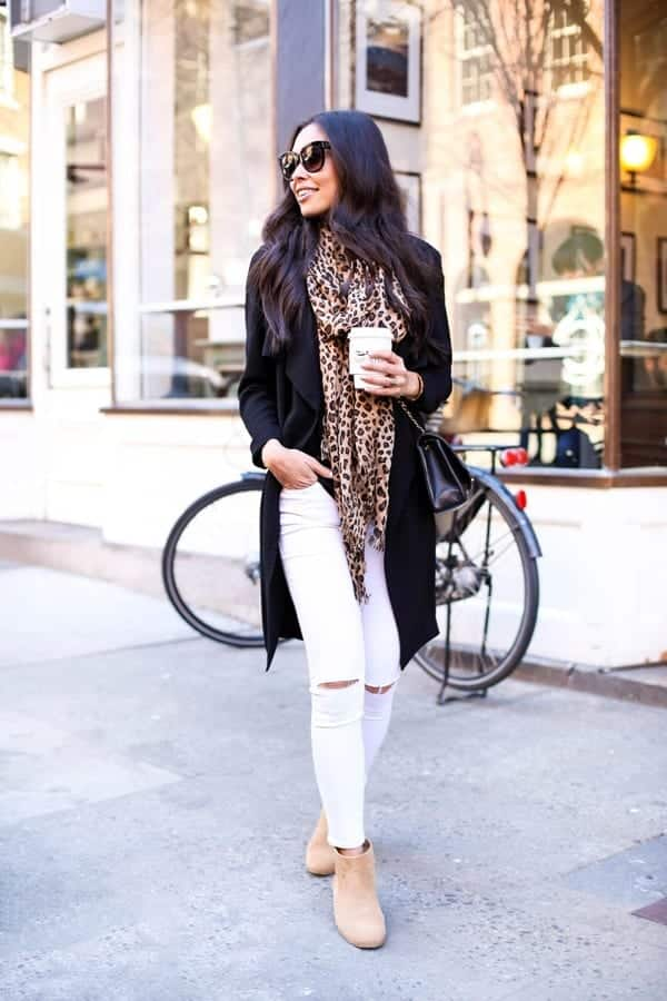 Fashionable ways to wear white jeans (2)