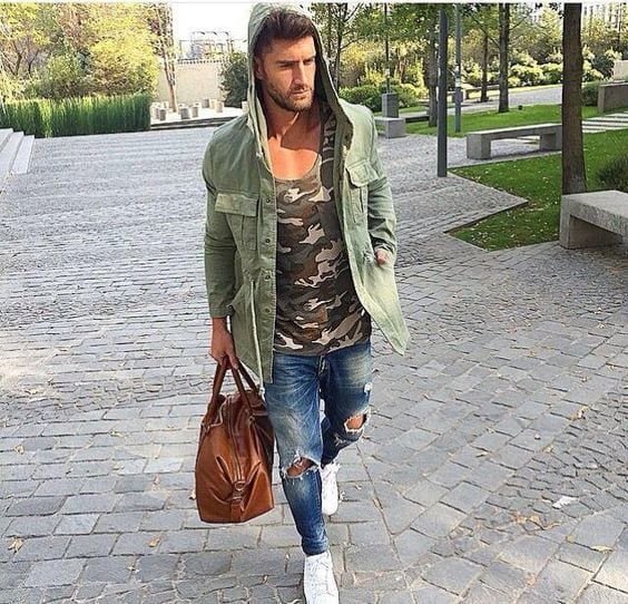 Men Ripped Jeans Outfits-18 Tips How To Wear Ripped Jeans photo