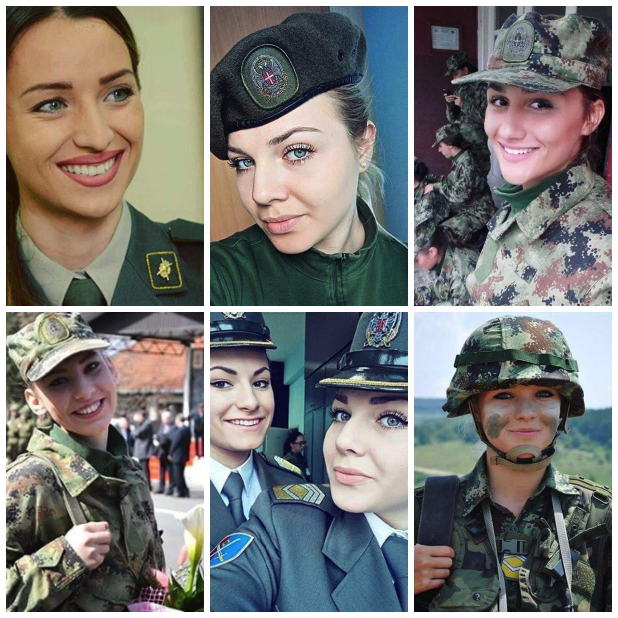 beautiful-soldiers-serbia Top 20 Countries With Most Attractive Female Soldiers In World