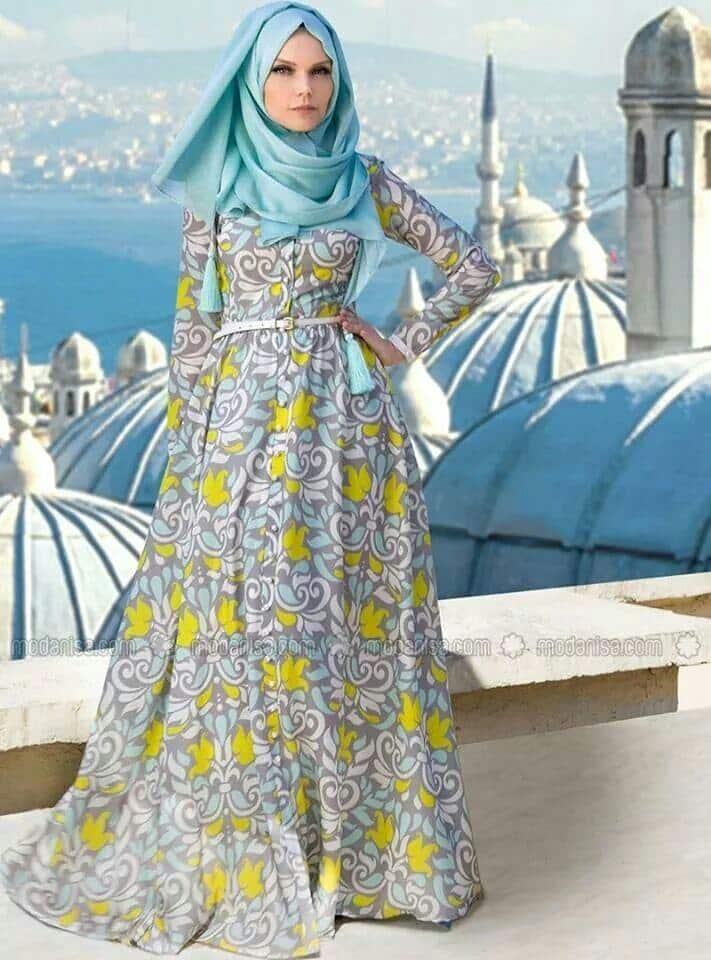 hijab-46 Hijab Engagement Dresses - 27 Beautiful Engagement Dresses for Hijabis