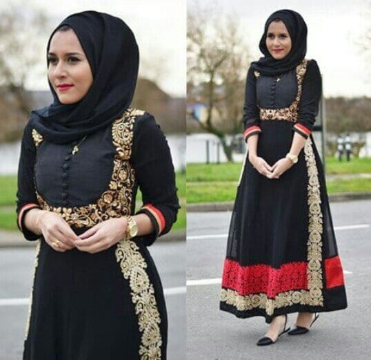 hijab-47 Hijab Engagement Dresses - 27 Beautiful Engagement Dresses for Hijabis