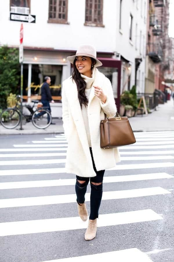 vince-cream-coat Cozy Winter Outfit Idea-20 Cute and Warm Outfits for Winters