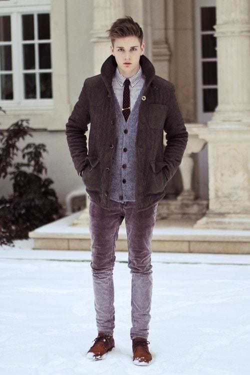 Teenage Guys winter Outfits (20)