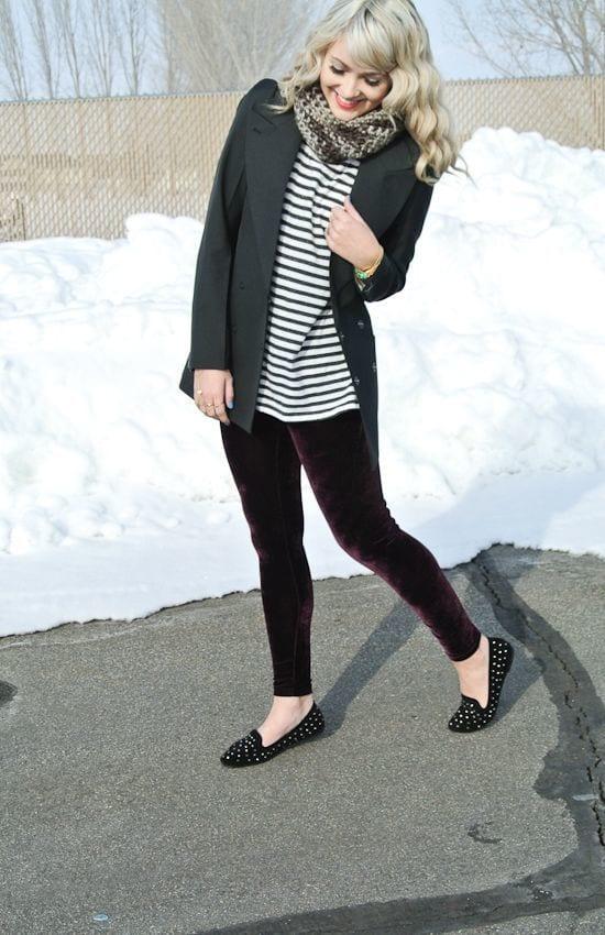 Outfits with Velvet Leggings (11)