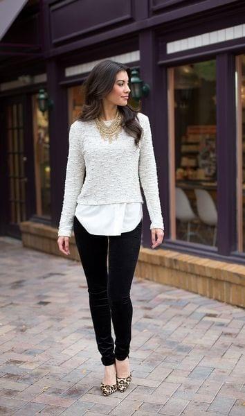 Outfits with Velvet Leggings (3)