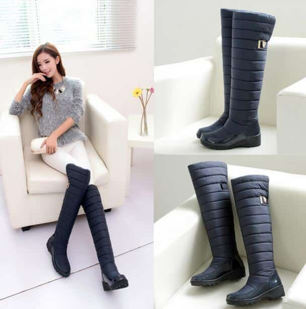 2015-new-arrival-keep-warm-snow-boots-fashion-platform-fur-thigh-knee-high-boots-warm-winter Outfits with Snow Boots-20 Ways to Wear Snow Shoes in Winter