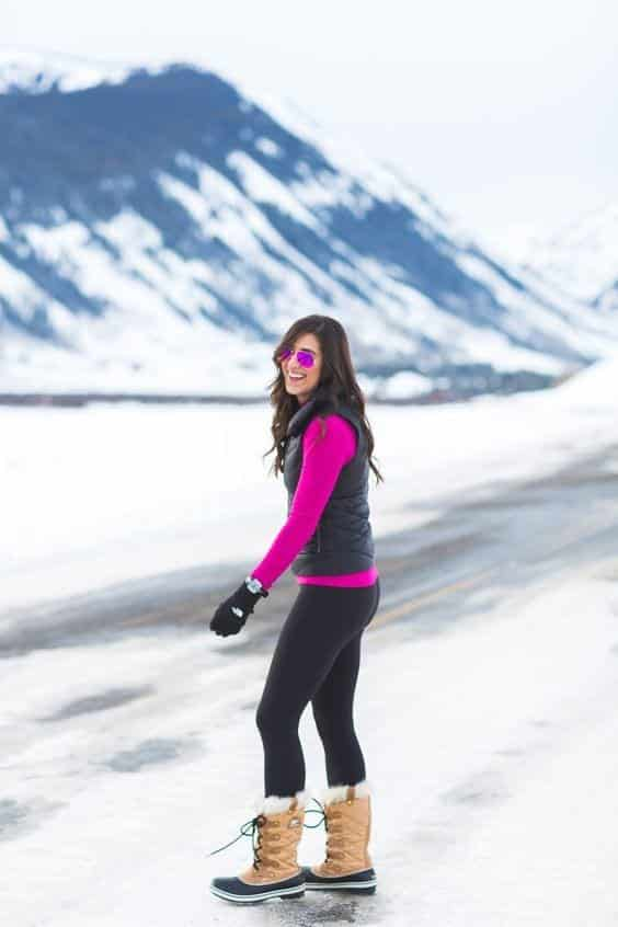 3df833311de00250547560dd6228f97c Outfits with Snow Boots-20 Ways to Wear Snow Shoes in Winter