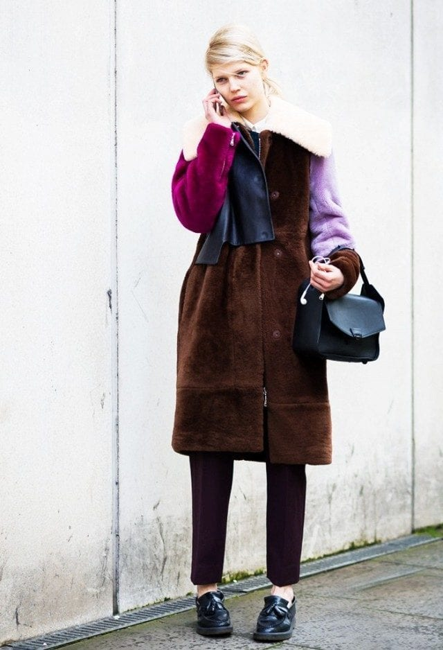 50-street-style-outfit-ideas-good-enough-to-bookmark-1658344.640x0c Women Outfits with Shearling Coats-19 Ways to Wear Stylishly