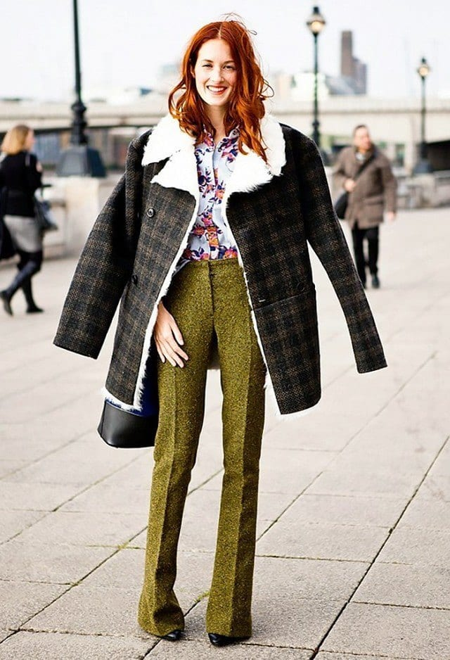 50-street-style-outfit-ideas-good-enough-to-bookmark-1658350.640x0c Women Outfits with Shearling Coats-19 Ways to Wear Stylishly
