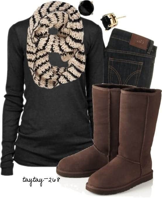 what to wear with snow boots girls women (24)