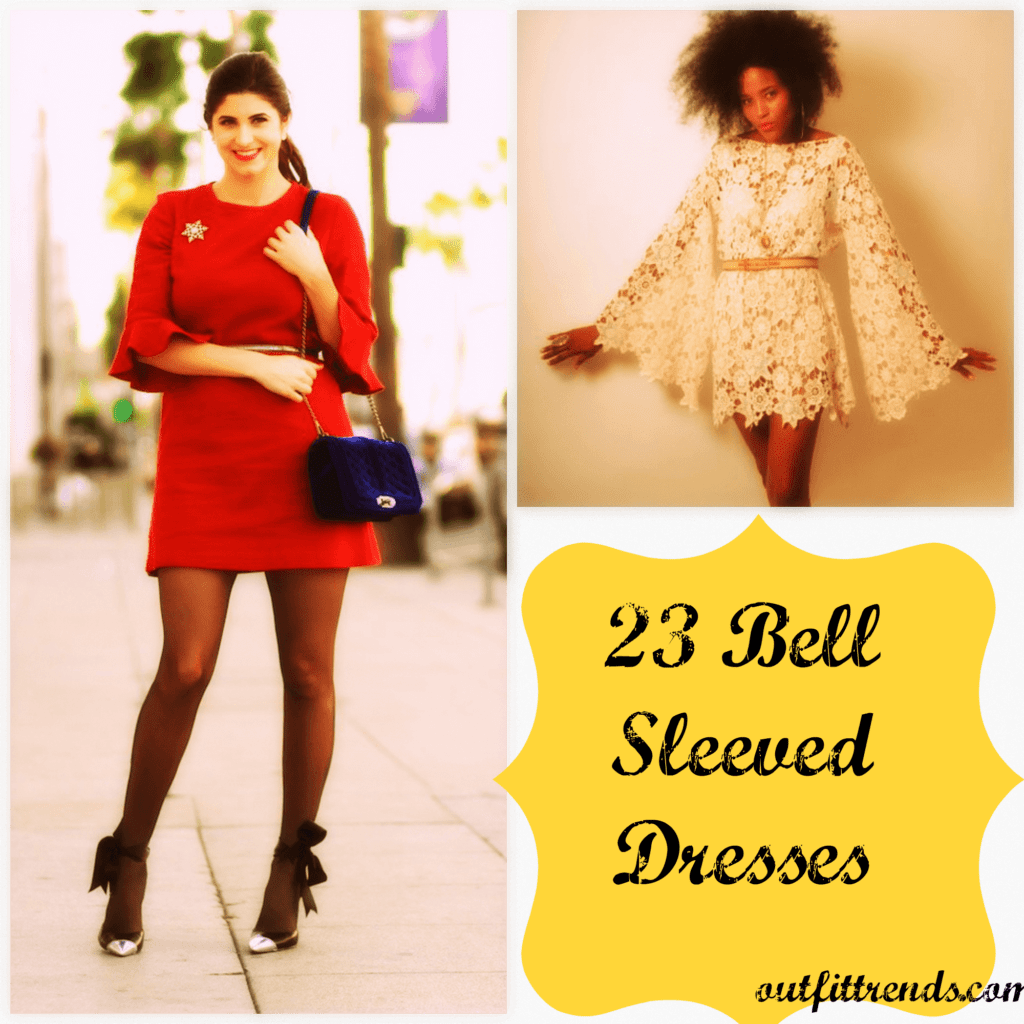 PicMonkey-Collage-1-1024x1024 How to Wear Bell Sleeve Dress-23 Outfit Ideas with Bell Sleeve
