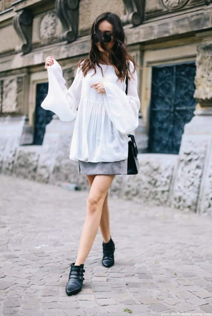 Outfits with flared sleeves (16)