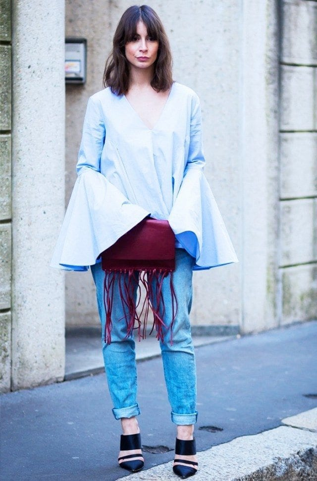 Outfits with flared sleeves (3)