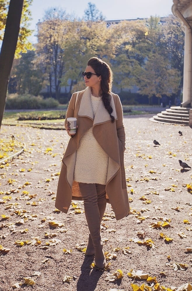 shearling-coats-21 Women Outfits with Shearling Coats-19 Ways to Wear Stylishly