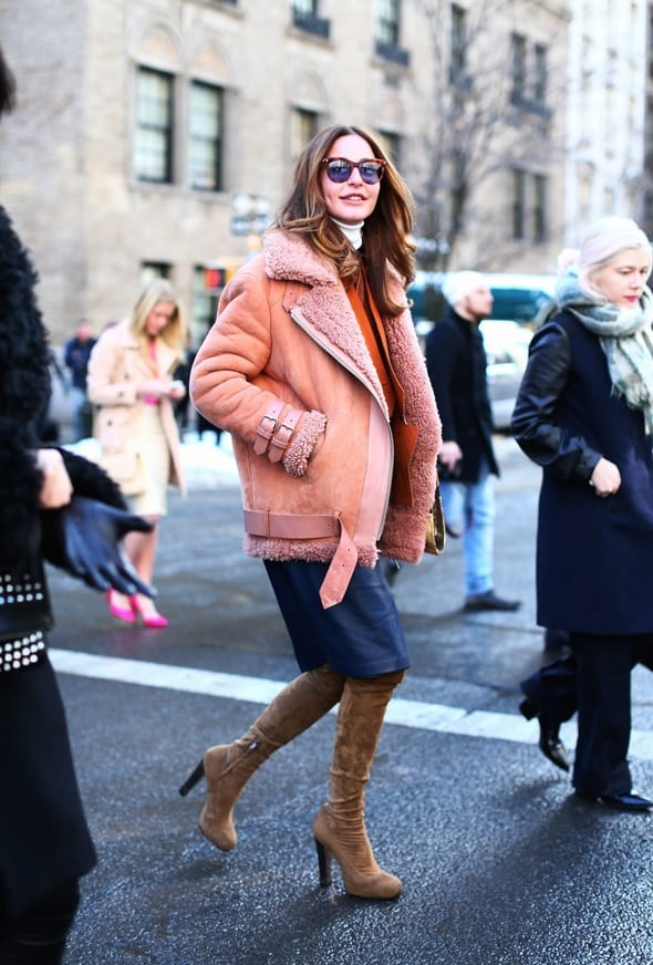 shearling-coats-24 Women Outfits with Shearling Coats-19 Ways to Wear Stylishly
