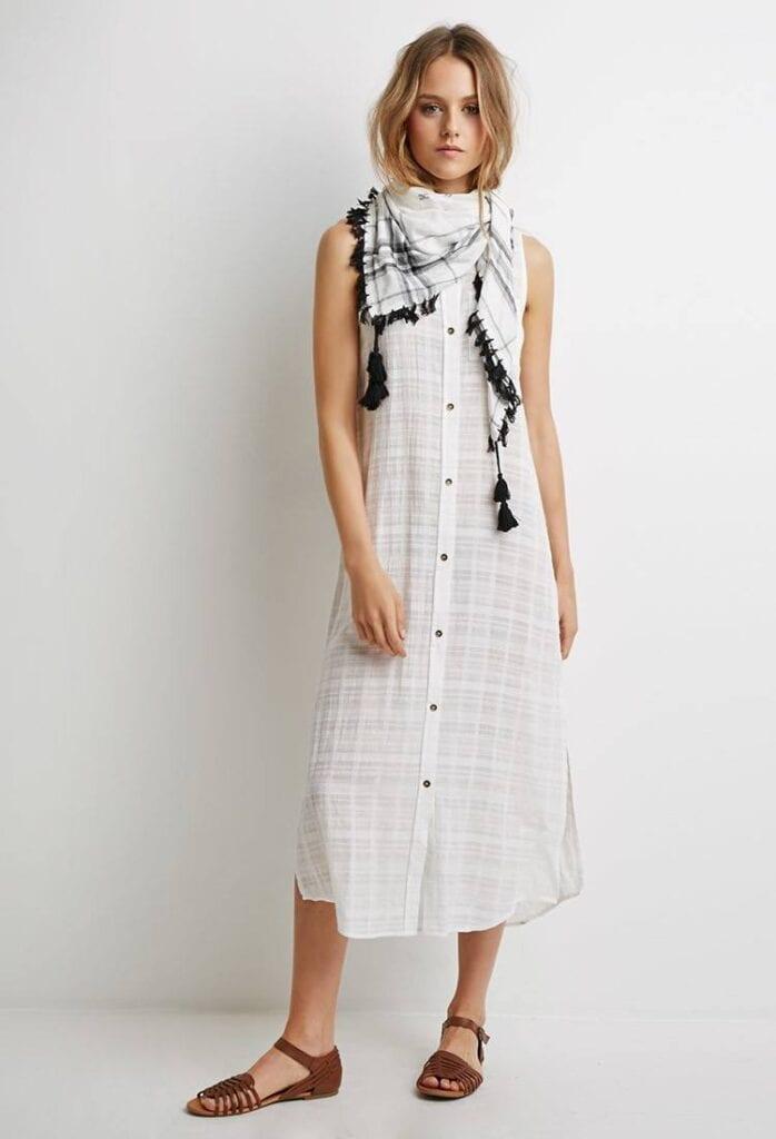 shirt-dreesse-2-698x1024 Shirt Dress Outfits-27 Ways to Wear Shirt Dress in Different Ways