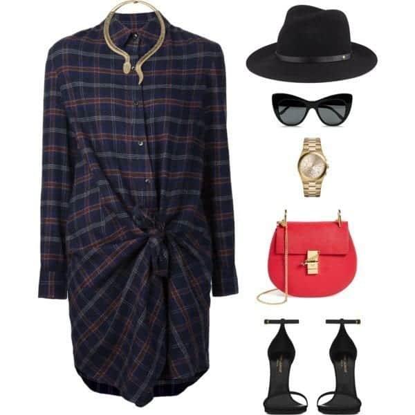 shirt-dreesse-24 Shirt Dress Outfits-27 Ways to Wear Shirt Dress in Different Ways