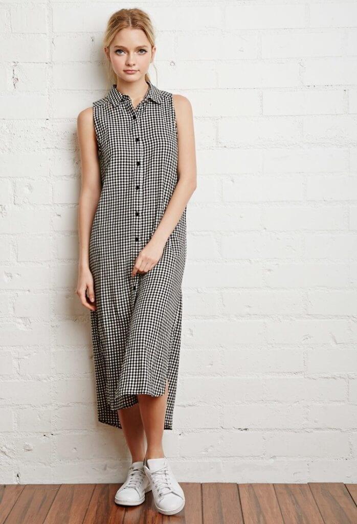 shirt-dreesse-5-698x1024 Shirt Dress Outfits-27 Ways to Wear Shirt Dress in Different Ways
