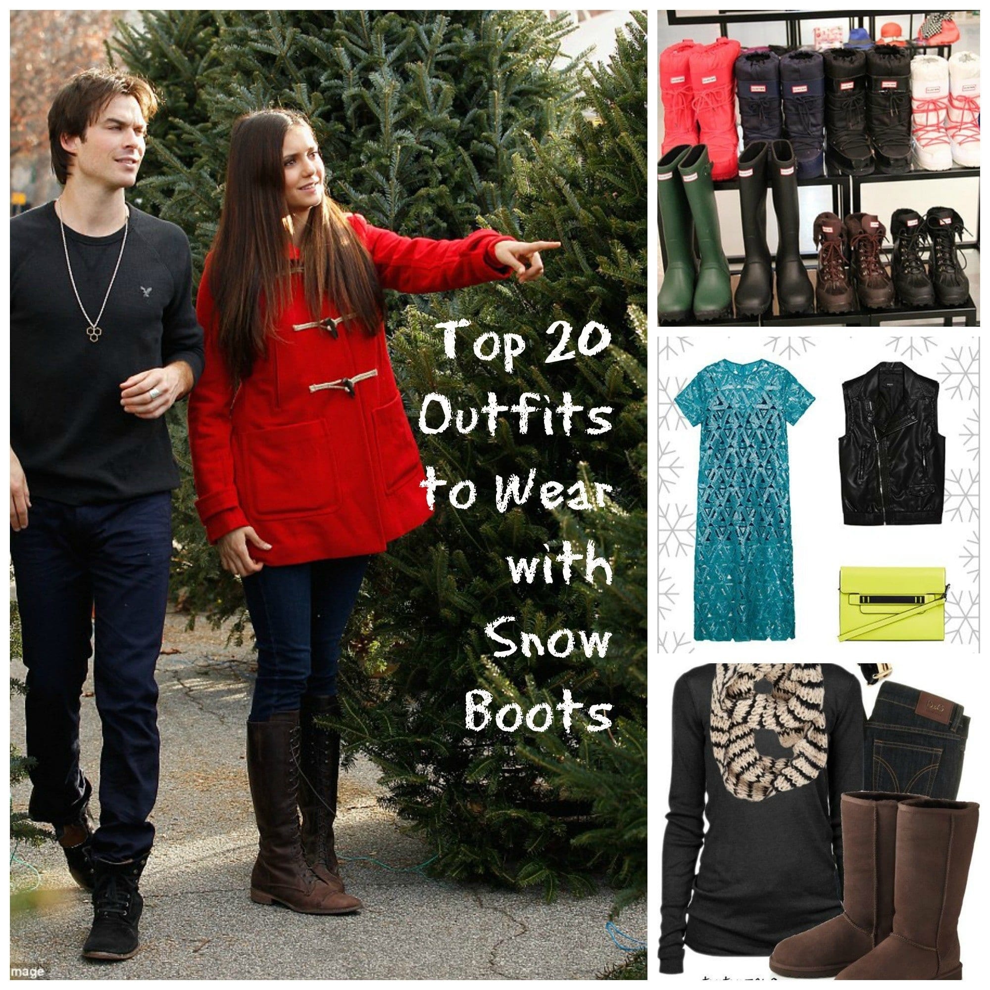 snow-boots-outfits Outfits with Snow Boots-20 Ways to Wear Snow Shoes in Winter