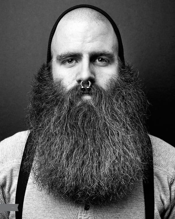 Bald-Men-10 Beard Styles for Bald Guys-30 New Facial Hairstyles for Bald Heads