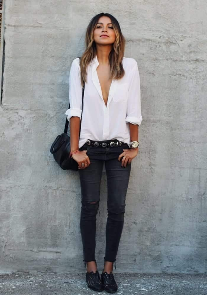 Black-Jeans-Outfits-9 Outfits with Black Jeans-23 Ways to Style Black Denim Pants