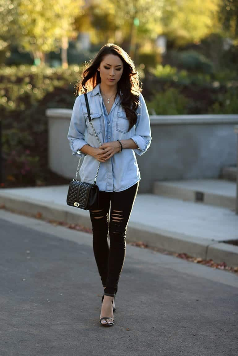 Outfits with Black Jeans-23 Ways to Style Black Denim Pants