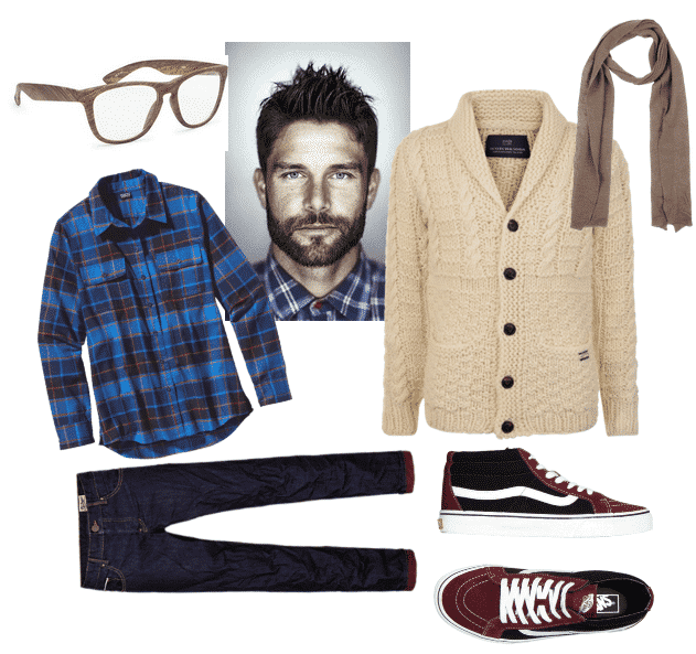 Mens-Hipster-Clothing-Combination-Ideas-3 Cardigan Outfits for Guys-19 Ways to Wear Cardigans Stylishly