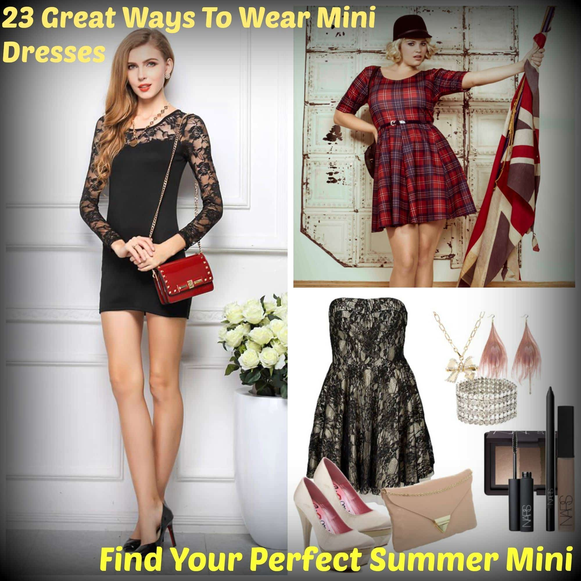 MiniCollage How To Wear Mini Dresses? 23 Great Ways To Wear Mini Dresses