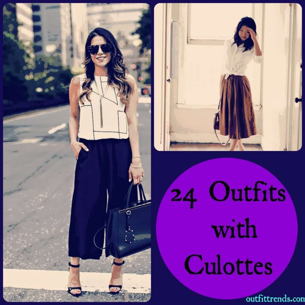 PicMonkey-Collage-10-1024x1024 Culottes Outfits Ideas-24 Ideas How to Wear Culottes This Year