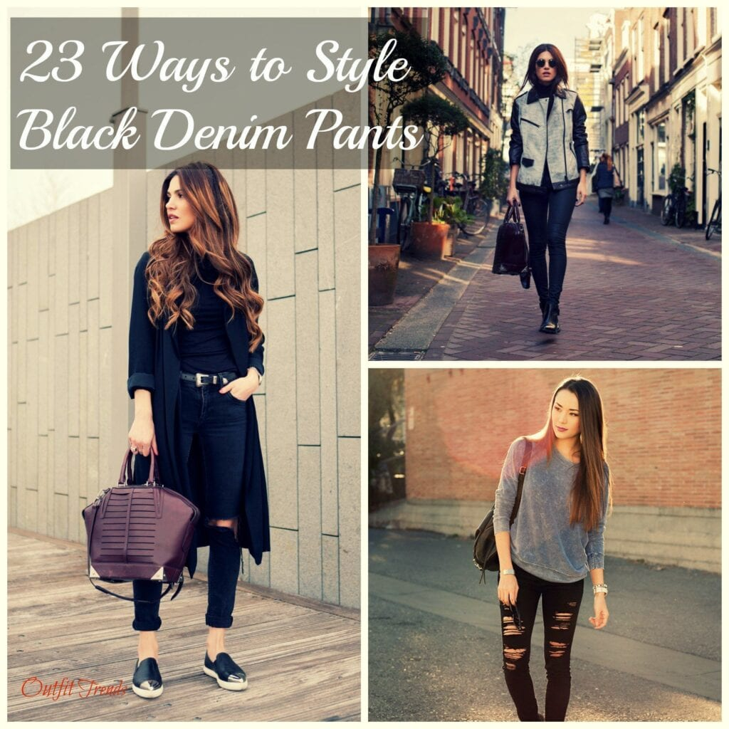 PicMonkey-Collage-4-1024x1024 Outfits with Black Jeans-23 Ways to Style Black Denim Pants