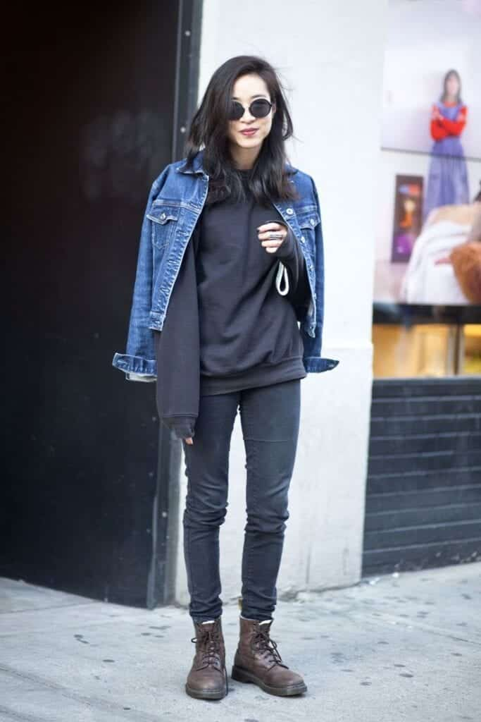 black-jeans-grunge-look-683x1024 Outfits with Black Jeans-23 Ways to Style Black Denim Pants