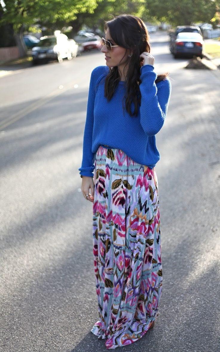 Maxi skirts trend: stylish ways