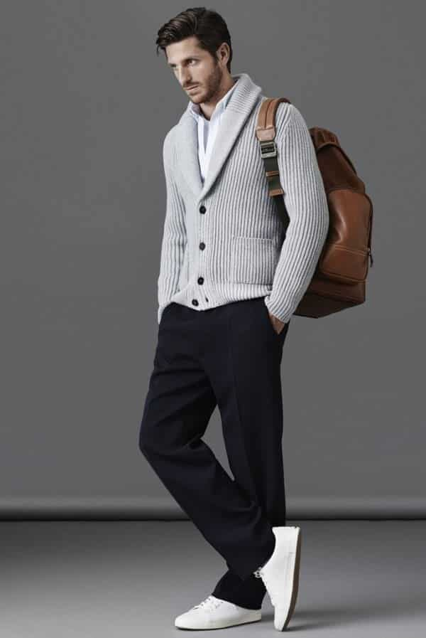 cardigans-7 Cardigan Outfits for Guys-19 Ways to Wear Cardigans Stylishly