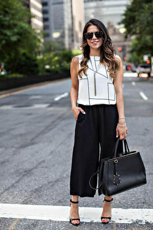 culottes-1 Culottes Outfits Ideas-24 Ideas How to Wear Culottes This Year