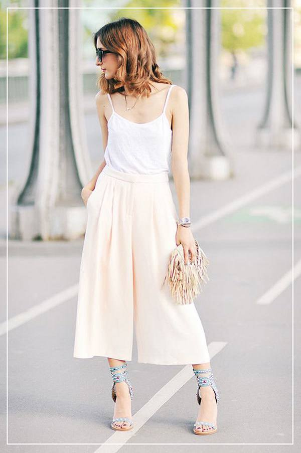 culottes-2 Culottes Outfits Ideas-24 Ideas How to Wear Culottes This Year