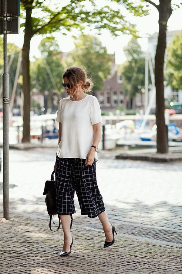 culottes-4 Culottes Outfits Ideas-24 Ideas How to Wear Culottes This Year