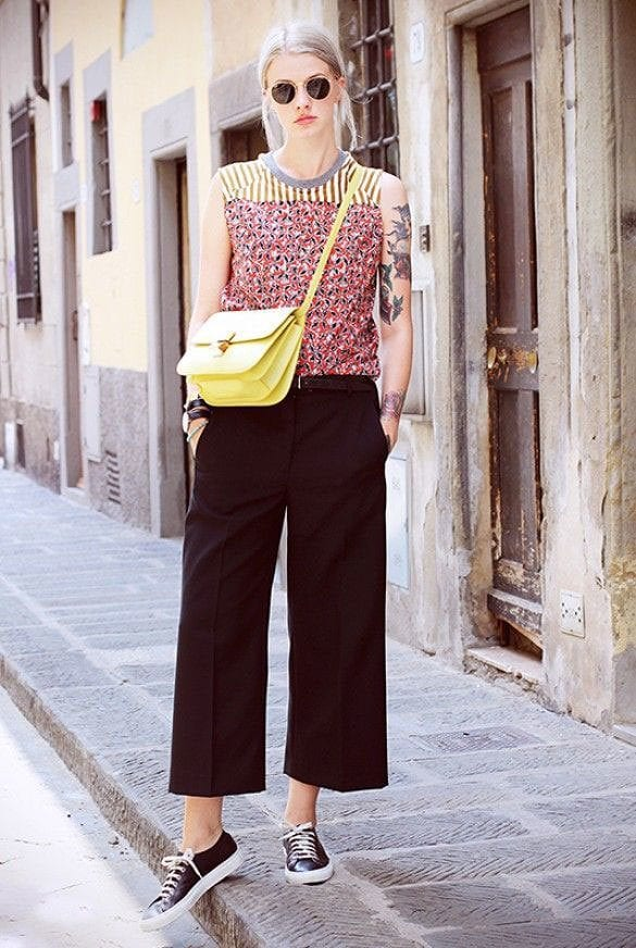culottes-5 Culottes Outfits Ideas-24 Ideas How to Wear Culottes This Year
